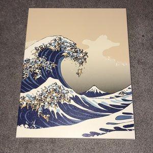 Pug tidal wave poster
